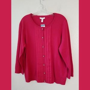Charter Club Dressy Button Front Cardigan Sz XL